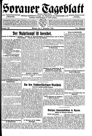 Sorauer Tageblatt vom 03.12.1928