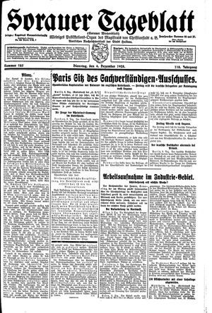 Sorauer Tageblatt vom 04.12.1928