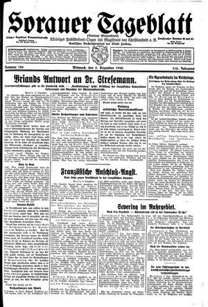 Sorauer Tageblatt vom 05.12.1928