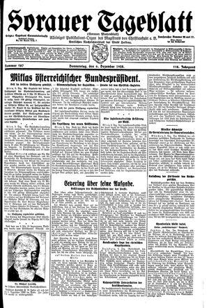 Sorauer Tageblatt vom 06.12.1928