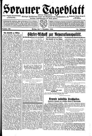 Sorauer Tageblatt vom 07.12.1928