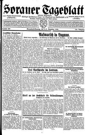 Sorauer Tageblatt vom 08.12.1928