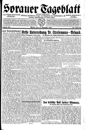 Sorauer Tageblatt vom 10.12.1928