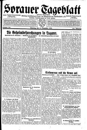 Sorauer Tageblatt vom 11.12.1928