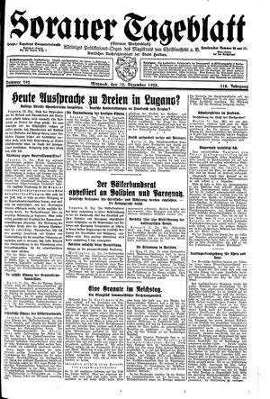 Sorauer Tageblatt vom 12.12.1928