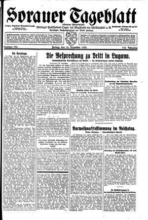 Sorauer Tageblatt vom 14.12.1928