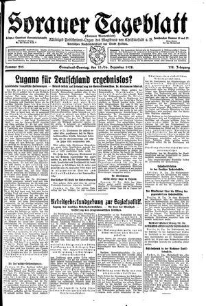 Sorauer Tageblatt vom 15.12.1928