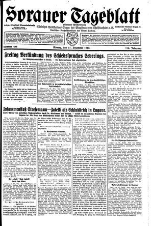 Sorauer Tageblatt vom 17.12.1928