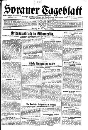 Sorauer Tageblatt vom 18.12.1928