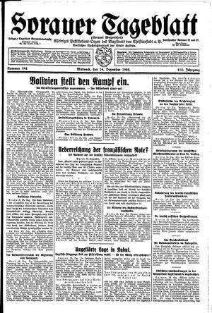 Sorauer Tageblatt vom 19.12.1928