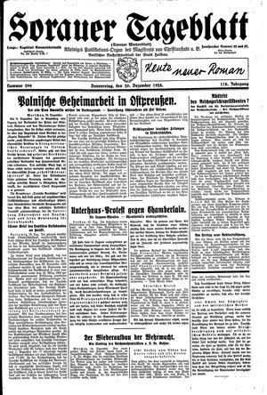 Sorauer Tageblatt vom 20.12.1928