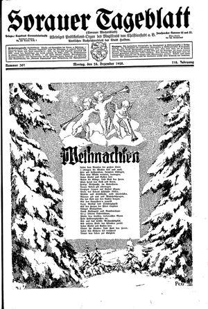 Sorauer Tageblatt vom 24.12.1928