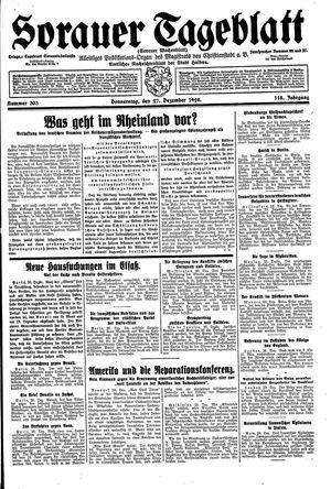Sorauer Tageblatt vom 27.12.1928