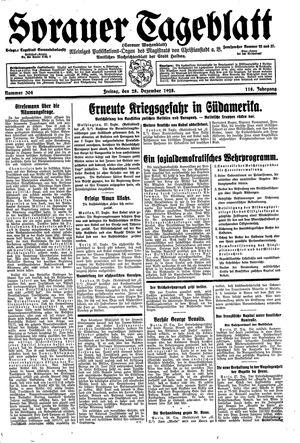 Sorauer Tageblatt vom 28.12.1928