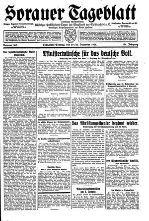 Sorauer Tageblatt vom 29.12.1928