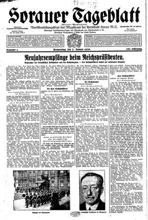 Sorauer Tageblatt vom 02.01.1930