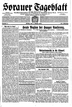 Sorauer Tageblatt vom 03.01.1930