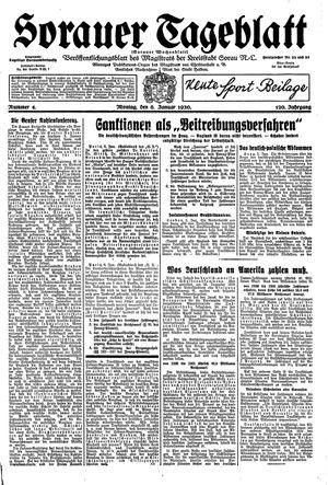 Sorauer Tageblatt vom 06.01.1930