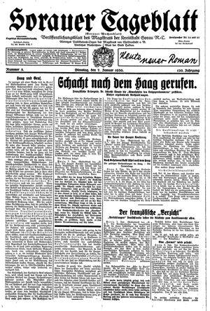 Sorauer Tageblatt vom 07.01.1930
