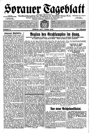 Sorauer Tageblatt vom 08.01.1930