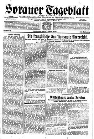 Sorauer Tageblatt vom 09.01.1930