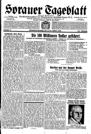 Sorauer Tageblatt vom 11.01.1930