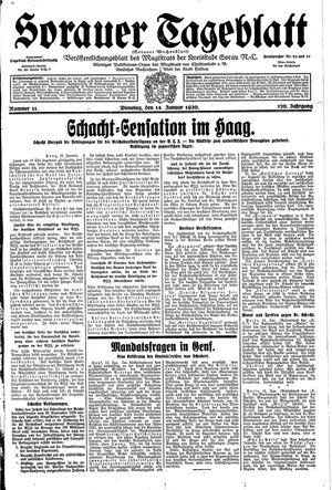 Sorauer Tageblatt vom 14.01.1930