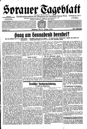 Sorauer Tageblatt vom 15.01.1930