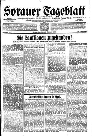 Sorauer Tageblatt vom 16.01.1930