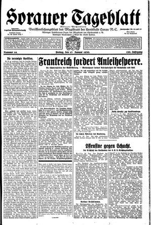 Sorauer Tageblatt on Jan 17, 1930