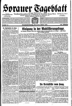 Sorauer Tageblatt vom 18.01.1930