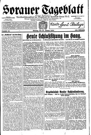 Sorauer Tageblatt vom 20.01.1930