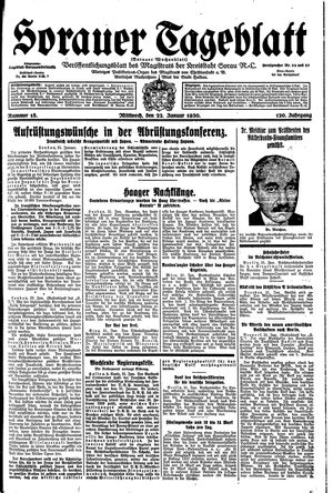 Sorauer Tageblatt vom 22.01.1930