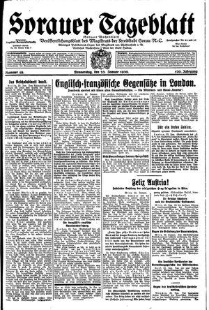 Sorauer Tageblatt vom 23.01.1930