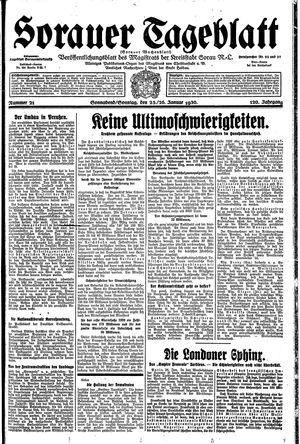 Sorauer Tageblatt vom 25.01.1930