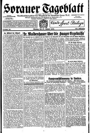 Sorauer Tageblatt vom 27.01.1930