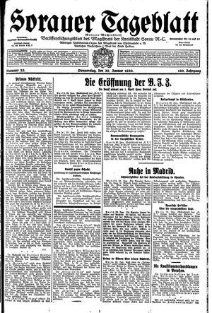 Sorauer Tageblatt vom 30.01.1930