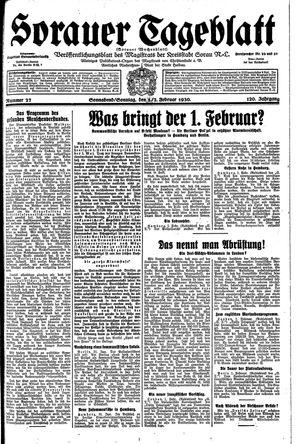 Sorauer Tageblatt vom 01.02.1930