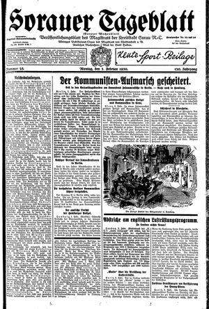 Sorauer Tageblatt vom 03.02.1930