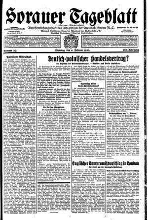 Sorauer Tageblatt vom 04.02.1930