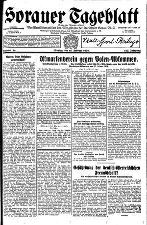 Sorauer Tageblatt vom 10.02.1930