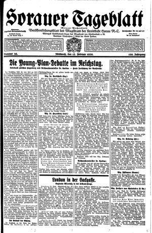 Sorauer Tageblatt vom 12.02.1930