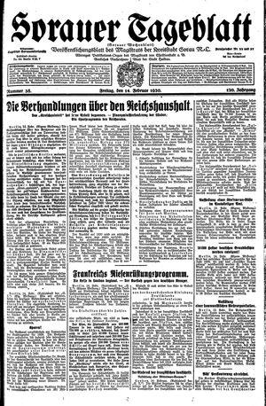 Sorauer Tageblatt vom 14.02.1930