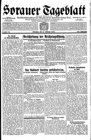 Sorauer Tageblatt vom 18.02.1930