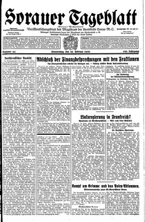 Sorauer Tageblatt vom 20.02.1930