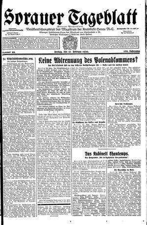 Sorauer Tageblatt vom 21.02.1930