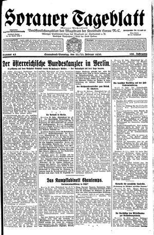 Sorauer Tageblatt vom 22.02.1930