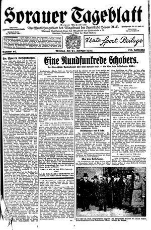Sorauer Tageblatt vom 24.02.1930