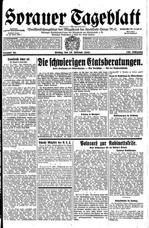 Sorauer Tageblatt vom 28.02.1930