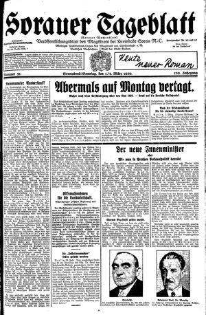 Sorauer Tageblatt on Mar 1, 1930